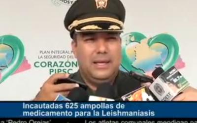 Incautadas 625 ampollas de medicamento para la Leishmaniasis.